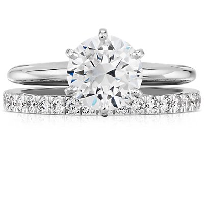 Petite Pavé Diamond Ring in 14k White Gold (0.30 ct. tw.)