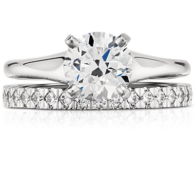 Nouveau Pavé Diamond Ring in Platinum (1/3 ct. tw.)