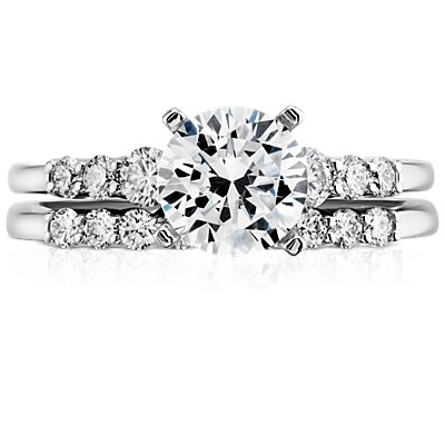 Petite Diamond Ring in 14k White Gold (1/5 ct. tw.)