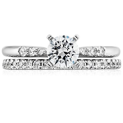 French Pavé Diamond Eternity Ring in 14k White Gold (3/8 ct. tw.)