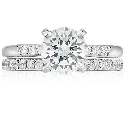 Riviera Pavé Diamond Eternity Ring in Platinum  (1/2 ct. tw.)