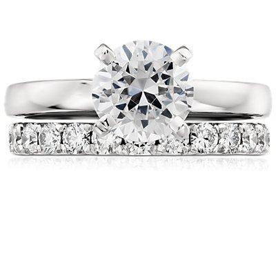 French Pavé Diamond Eternity Ring in Platinum