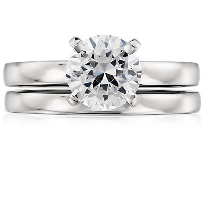 Low Dome Comfort Fit Wedding Ring in Platinum (2mm)