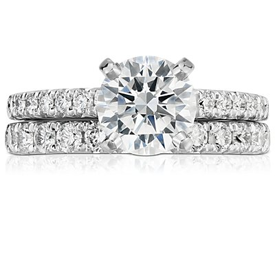 French Pavé Diamond Eternity Ring in 14k White Gold (1 ct. tw.)