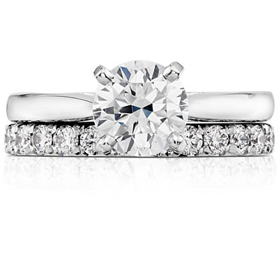 鉑金法式密釘鑽石永恆戒指(1 克拉總重量)