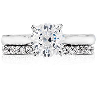 Anillo de eternidad con pavé de diamantes Riviera en platino (1/2 qt. total)