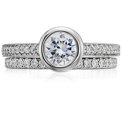 Riviera Pavé Diamond Eternity Ring in Platinum  (1/2 ct. tw.)