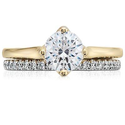 14k 白金Tazza 密釘鑽石永恆戒指(3/8 克拉總重量)