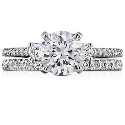 French Pavé Diamond Eternity Ring in Platinum (3/8 ct. tw.)
