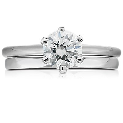 14k 白金低圓頂內圈卜身設計結婚戒指(2毫米)