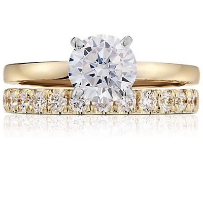 Scalloped Pavé Diamond Ring in 18k Yellow Gold (1/2 ct. tw.)