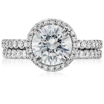 Tazza Pave Diamond Eternity Ring in Platinum (3/8 ct. tw.)