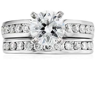 Bague diamants sertis barrette  en or blanc 18 carats (1/2 carat, poids total)