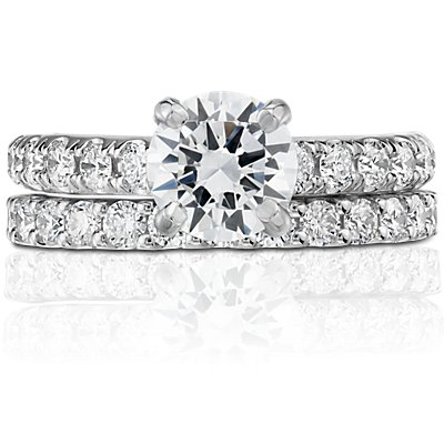 Luna Diamond Eternity Ring in 14k White Gold (1 ct. tw.)