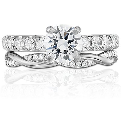 Petite Twist Diamond Eternity Ring in 14k White Gold (1/5 ct. tw.)