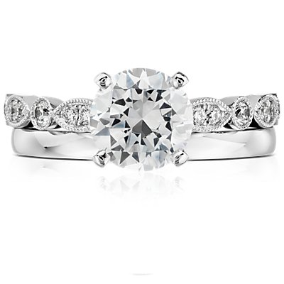 Low-Dome Comfort-Fit Wedding Ring in 14k White Gold (2 mm)