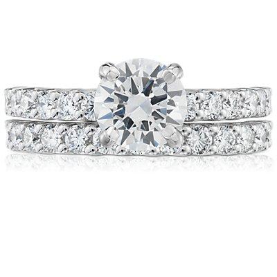 铂金 Luna 钻石结婚戒指(1/2 克拉总重量)