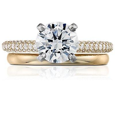 18k 黃金經典結婚戒指(2毫米)