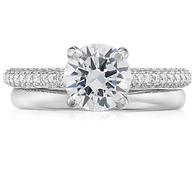 14k 白金经典结婚戒指(2毫米)