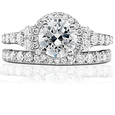 NEW Truly Zac Posen Pavé Diamond Ring in 14k White Gold (2/5 ct. tw.)