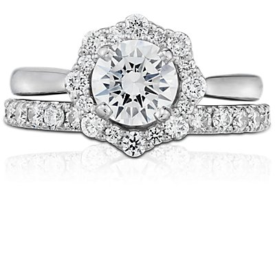 NEW Truly Zac Posen Pavé Diamond Ring in 14k White Gold (2/5 ct. tw.)
