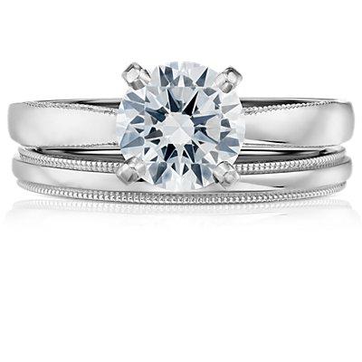 鉑金內圈卜身設計鋸狀結婚戒指(2.5毫米)