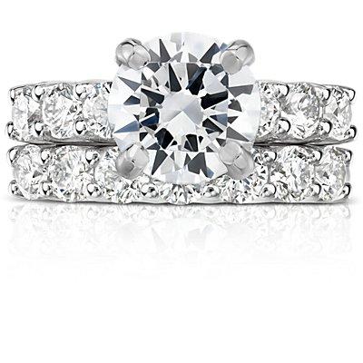 鉑金Luna 七石鑽石戒指(1 克拉總重量)