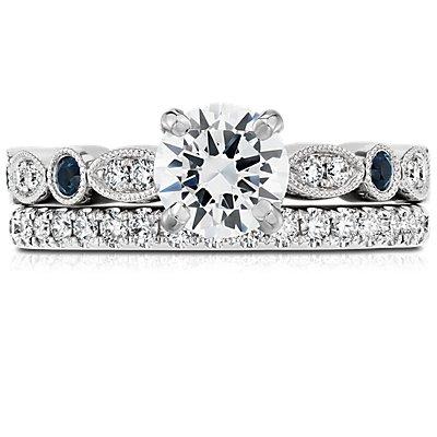 リビエラパヴェダイヤモンドリング  (K14ホワイトゴールド)(合計1/4カラット)