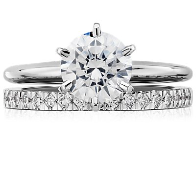 Petite Pavé Diamond Ring in 18k White Gold (0.30 ct. tw.)