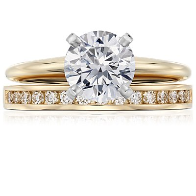 Channel Set Diamond Ring in 18k Yellow Gold (1/4 ct. tw.
