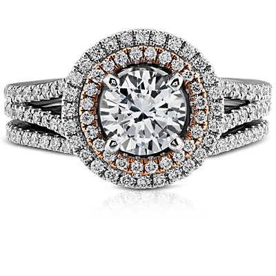 Monique Lhuillier Curved Pavé Diamond Ring in Platinum (1/5 ct. tw.)