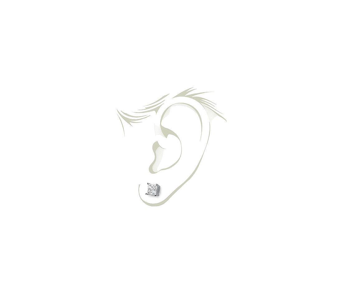Four-Claw Earrings in Platinum