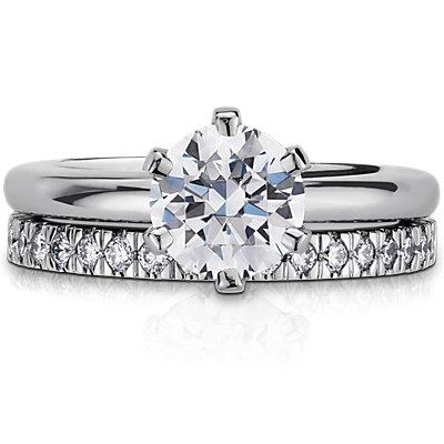 Nouveau Pavé Diamond Ring in Platinum (1/3 ct. tw.)