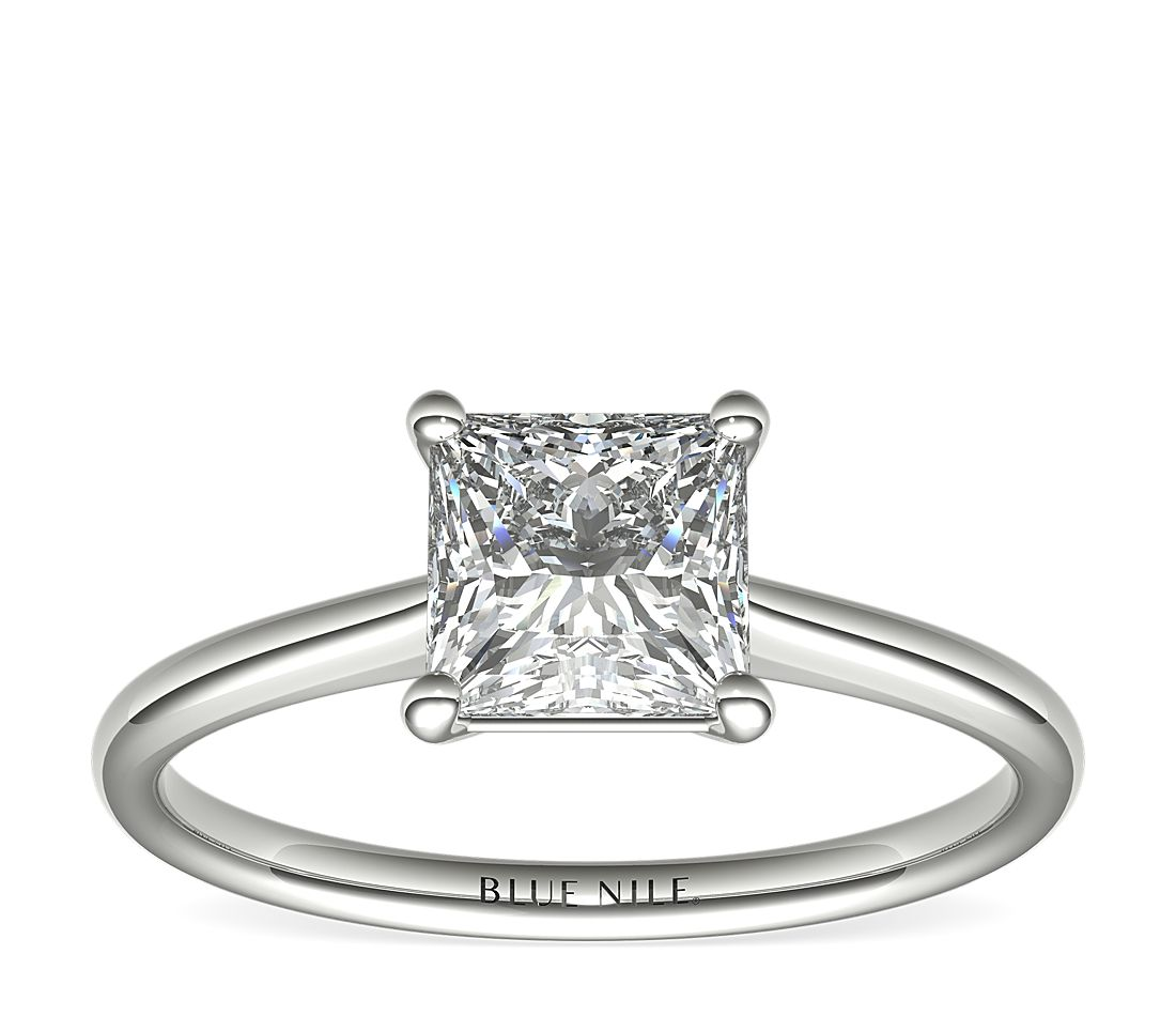1-1/2 Carat Astor Princess-Cut Petite Solitaire in Platinum (F/VS2) Ready-to-Ship