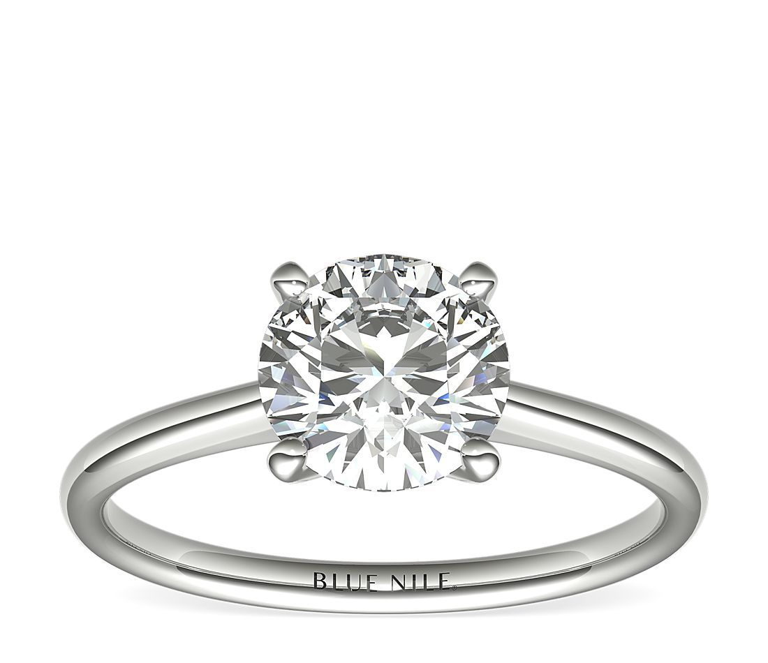 1-1/2 Carat Astor Petite Solitaire in Platinum (H/SI2) Ready-to-Ship