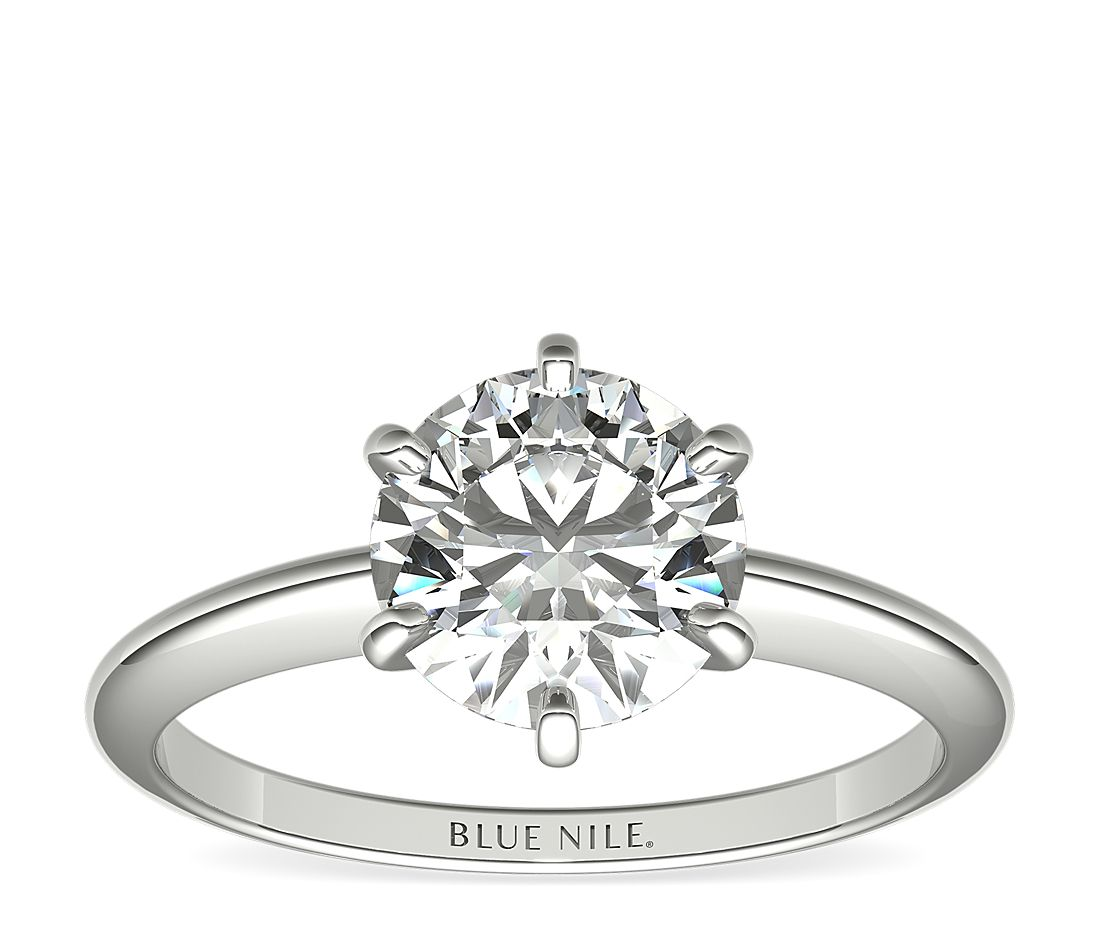 1-1/2 Carat Astor Classic Six-Prong Solitaire in Platinum (F/VS2) Ready-to-Ship