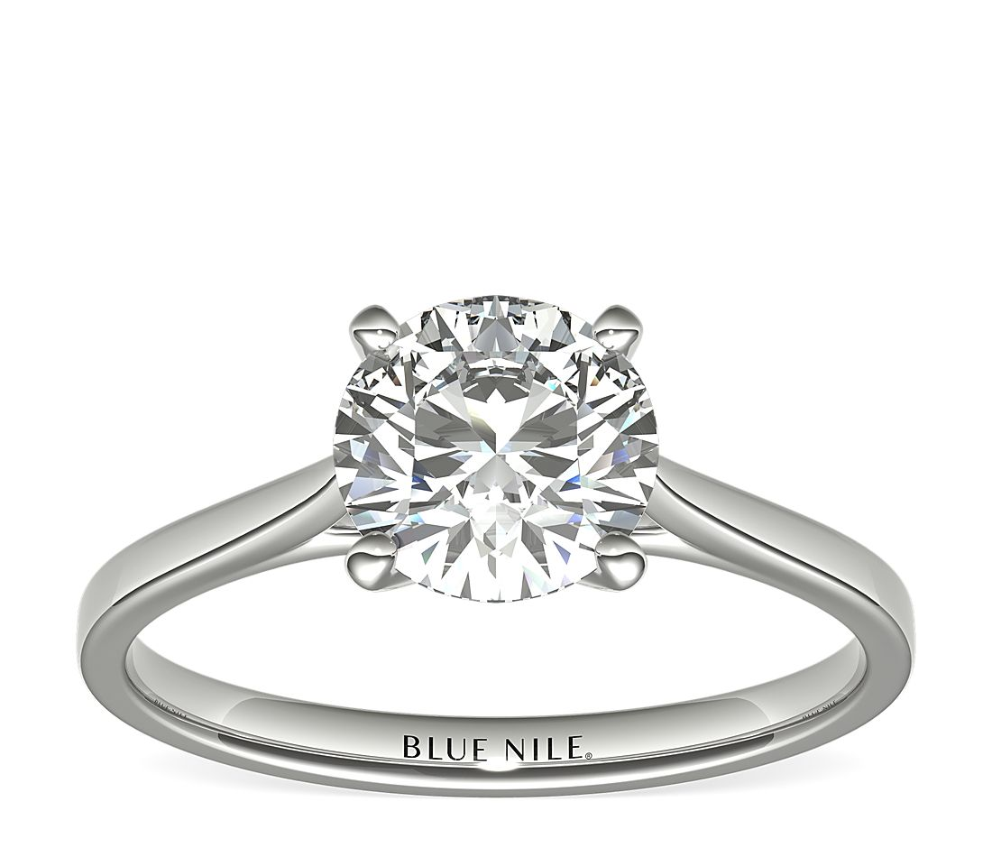 1-1/2 Carat Astor Petite Cathedral Solitaire in Platinum (H/SI2) Ready-to-Ship