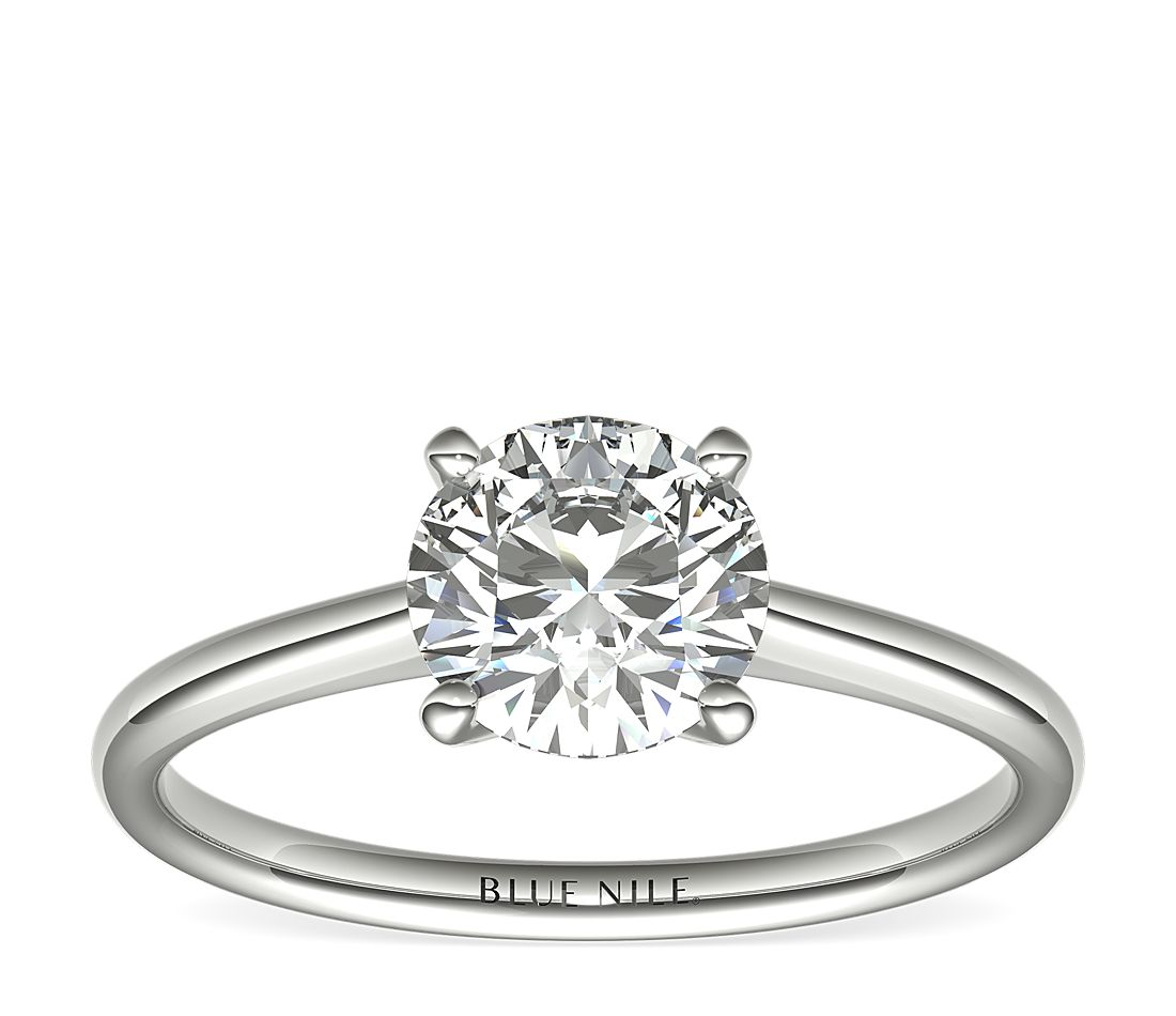 1-1/4 Carat Astor Petite Solitaire in Platinum (H/SI2) Ready-to-Ship