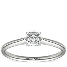 1/2 Carat Astor Cushion-Cut Petite Solitaire in Platinum (H/SI2) Ready-to-Ship