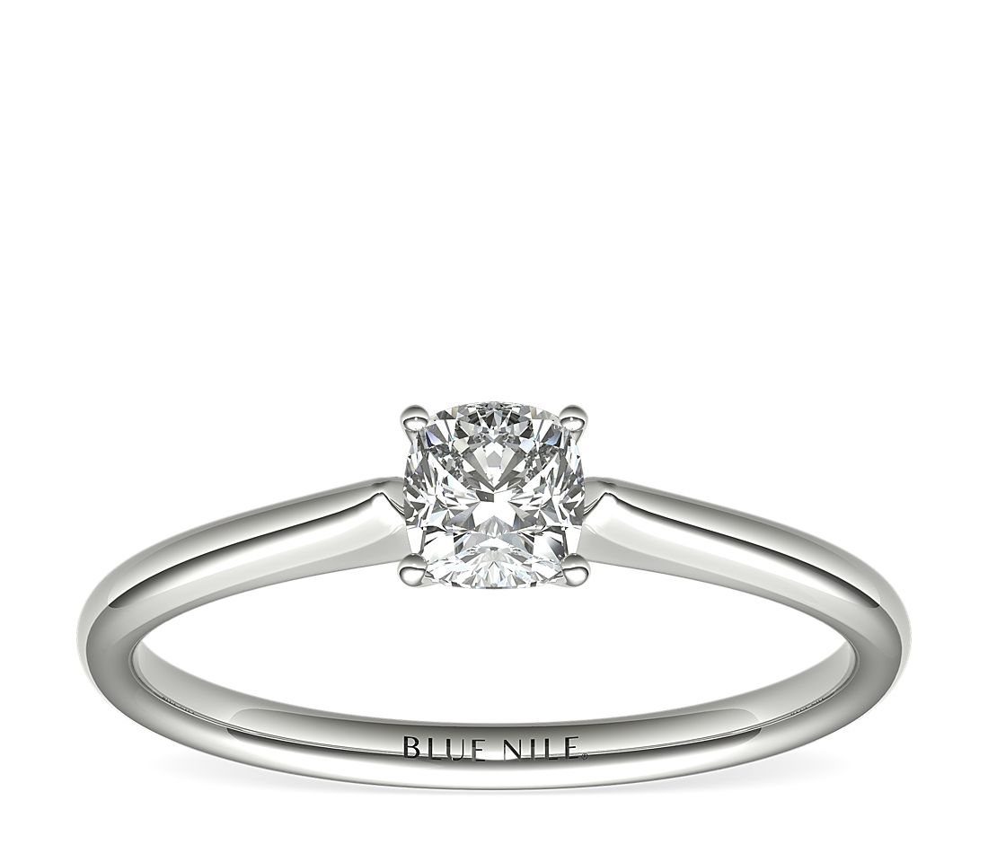 1/2 Carat Astor Cushion-Cut Petite Solitaire by Blue Nile