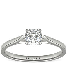 1/2 Carat Astor Petite Cathedral Solitaire in Platinum (F/VS2) Ready-to-Ship