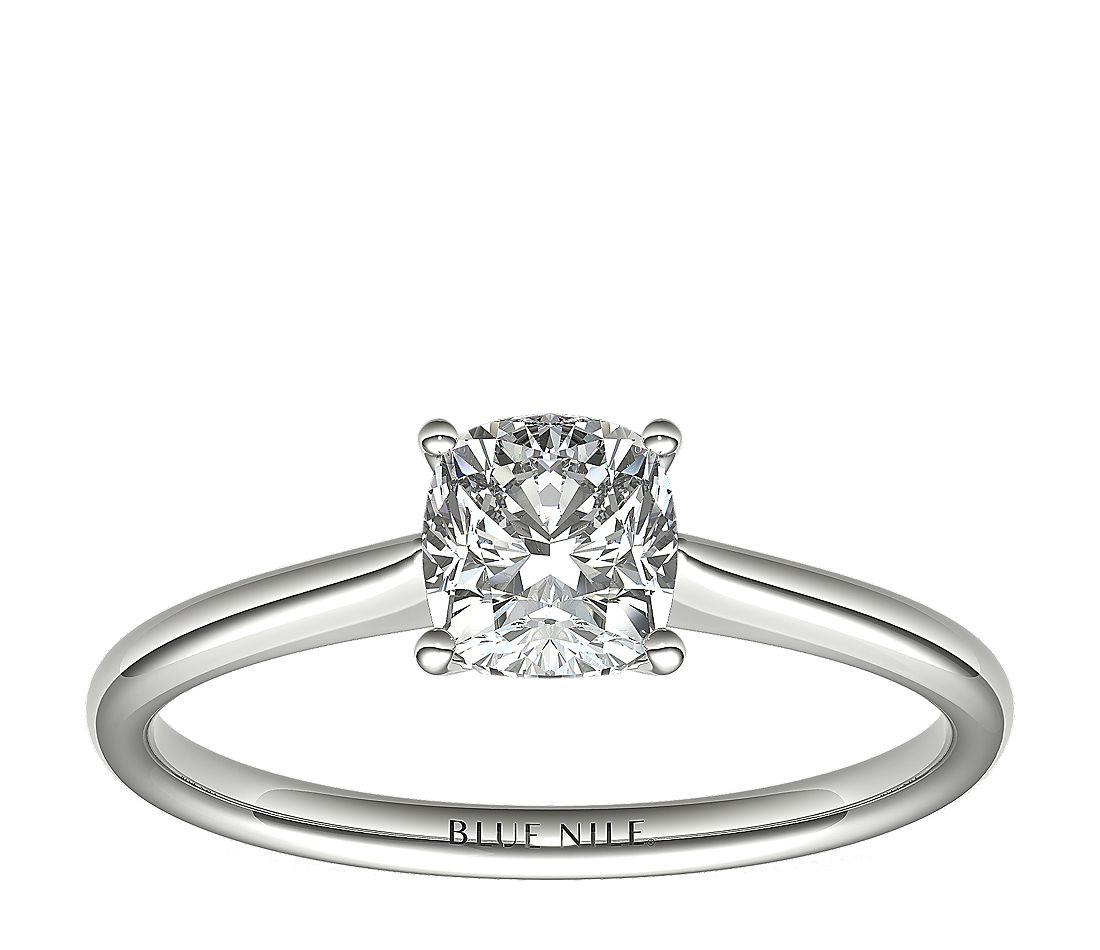 1 Carat Astor Cushion-Cut Petite Solitaire in Platinum (F/VS2) Ready-to-Ship
