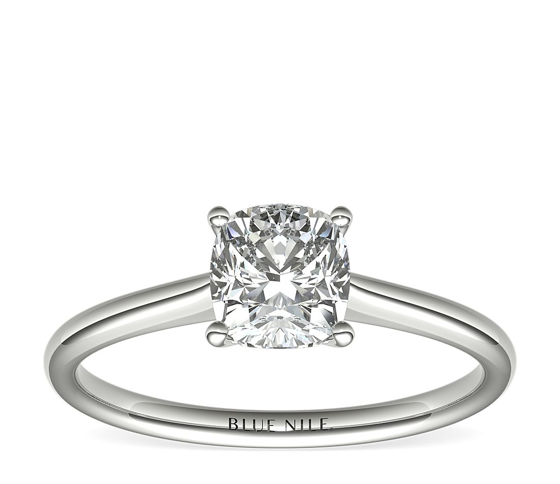 1 Carat Astor Cushion-Cut Petite Solitaire in Platinum (H/SI2) Ready-to-Ship