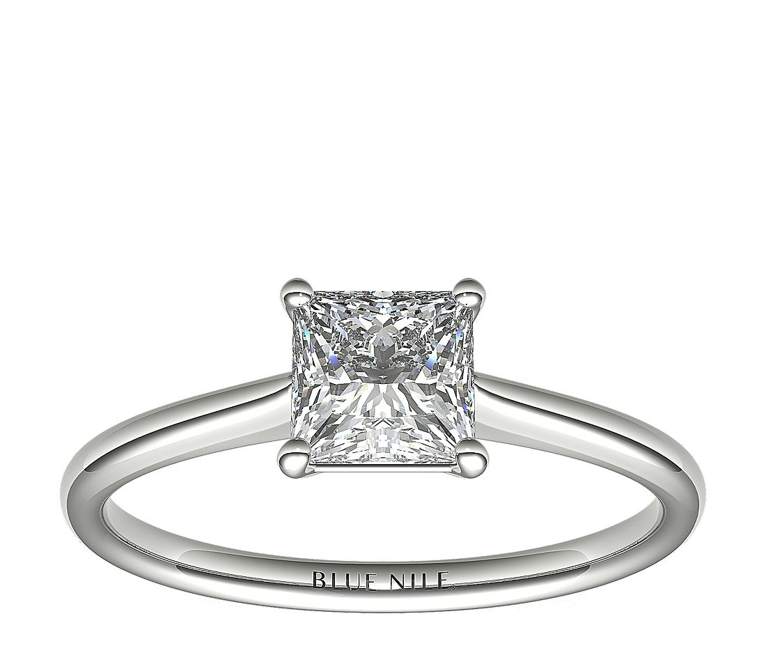 1 Carat Astor Princess-Cut Petite Solitaire in Platinum (H/SI2) Ready-to-Ship