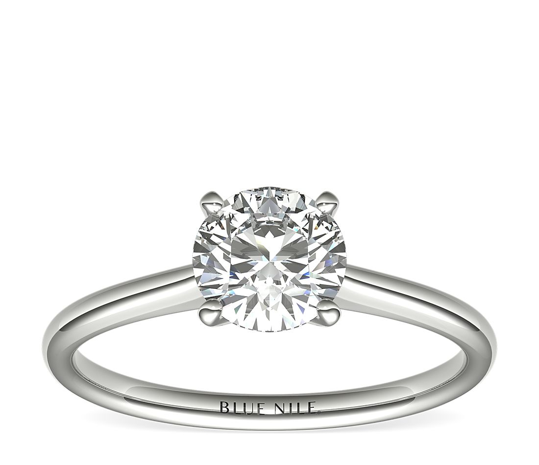 1 Carat Astor Petite Solitaire in Platinum (H/SI2) Ready-to-Ship