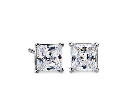Martini Four-Prong Earrings in 14K White Gold