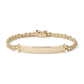 Engravable ID Bracelet in 14k Yellow Gold