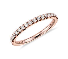 French Pavé Diamond Ring in 14k Rose Gold (0.24 ct. tw.)