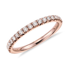 French Pavé Diamond Ring in 14k Rose Gold (1/4 ct. tw.)