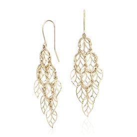 Leaf Chandelier Earrings in 14k Yellow Gold